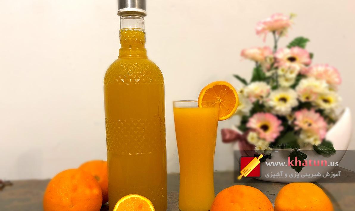 طرز تهیه شربت پرتقال + عکس