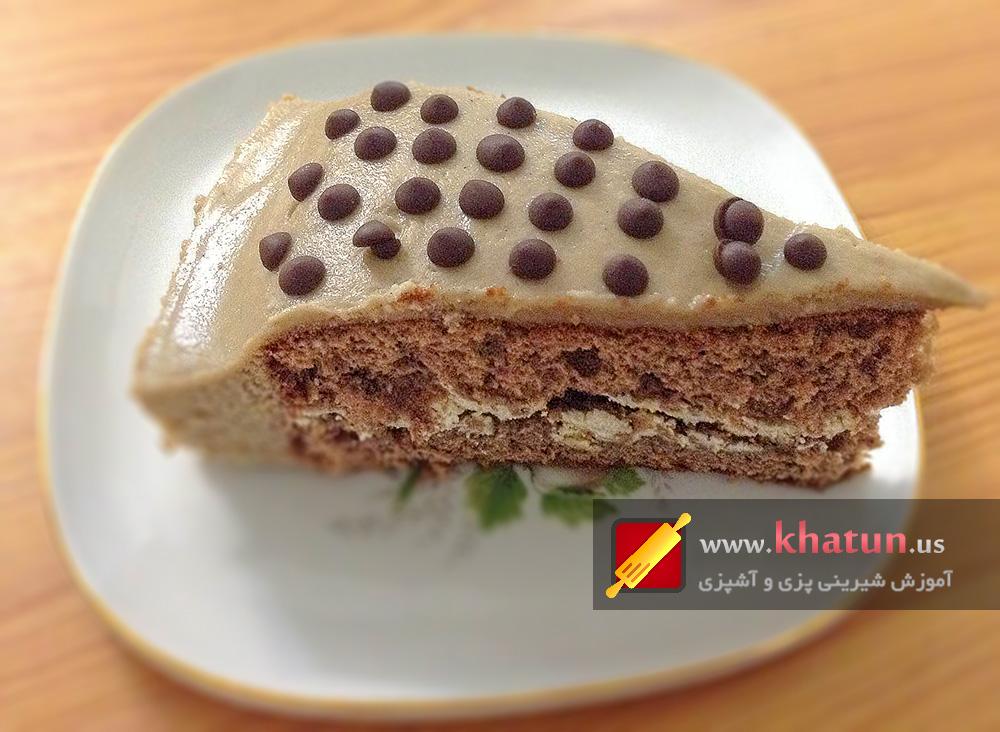 طرز تهیه کیک نسکافه ای + عکس