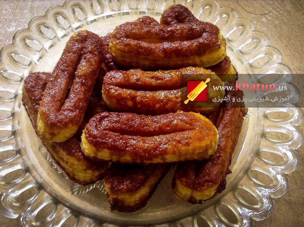 طرز تهیه شیرینی زبان با خمیرهزارلا + عکس